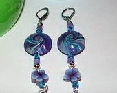 Serenity in purple and turquoise earrings