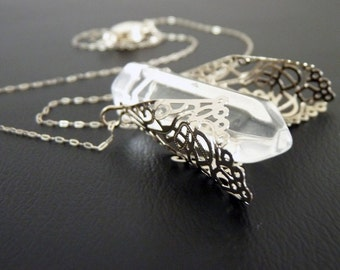 Crystal Cicada Sterling necklace