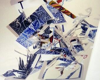 Blue Cards-  Art Print - 8 x 10 modern metallic photograph