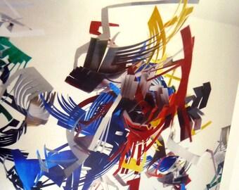 Primary- Legos- Hanging Sculpture Art Print - 8 x 10 metallic photograph