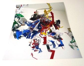 Primary Colors photograph- Legos Hanging Sculpture Art Print - 5 x 7 photograph