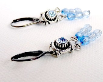 Blue ice twinkle- earrings
