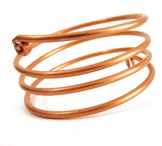 Spiral Copper  Bangle