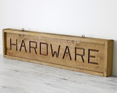 vintage rustic hardware store sign