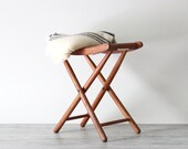RESERVED wood folding camp stool, set of 2