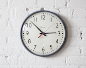 simplex school wall clock / industrial decor - AMradio