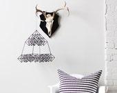 himmeli no. 10 - hanging mobile - modern mobile - pyramid sculpture - geometric - black - finnish design - home decor