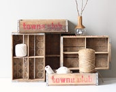 RESERVED vintage soda crate / rustic wooden box / industrial storage