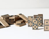 antique wood domino set
