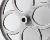 Vintage Large Pulley Belt Wheel / Industrial Cart Wheel