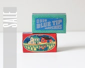 1950 blue tip match box : set of 2