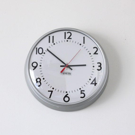 industrial modern school clock