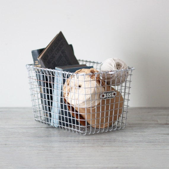 vintage school locker basket