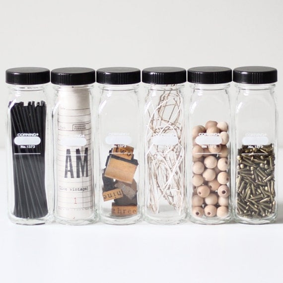 laboratory bottle set no.1 / industrial glass jars