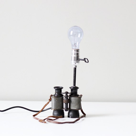 vintage binocular lamp no. 3