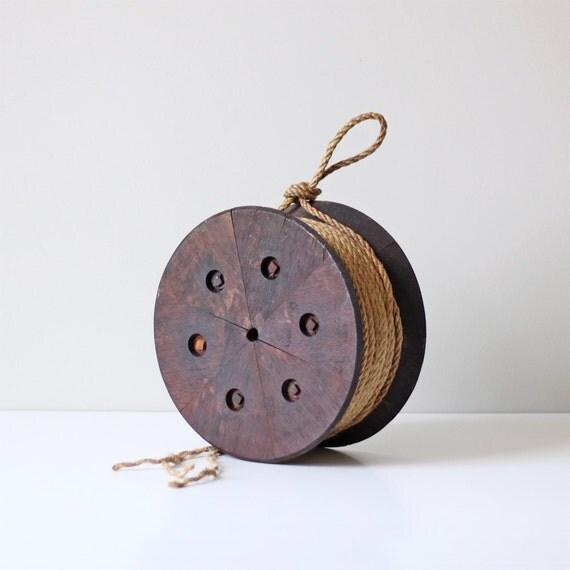 industrial factory wheel / vintage wood circle mold