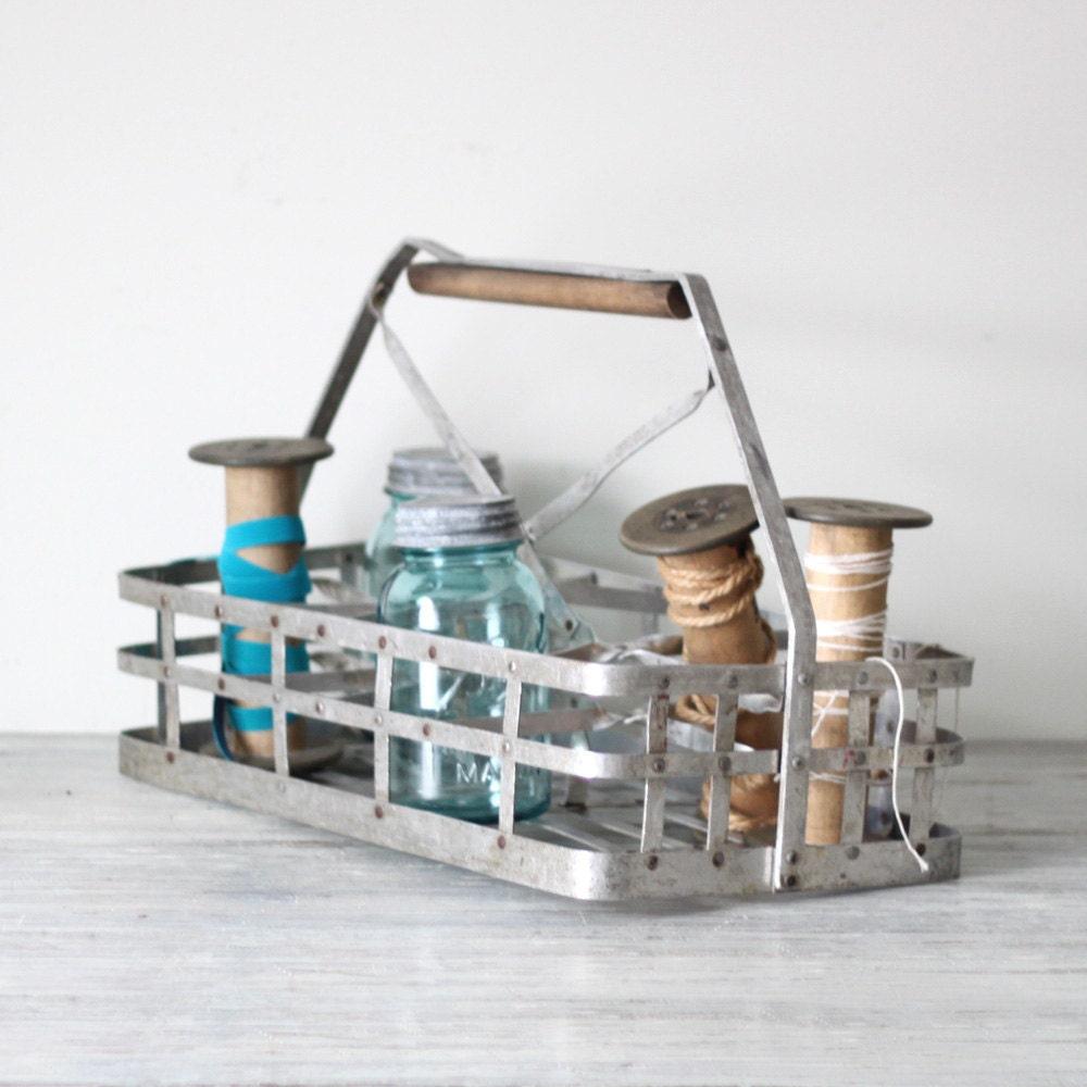 reserved antique milk bottle carrier basket by hruskaa on etsy. Black Bedroom Furniture Sets. Home Design Ideas