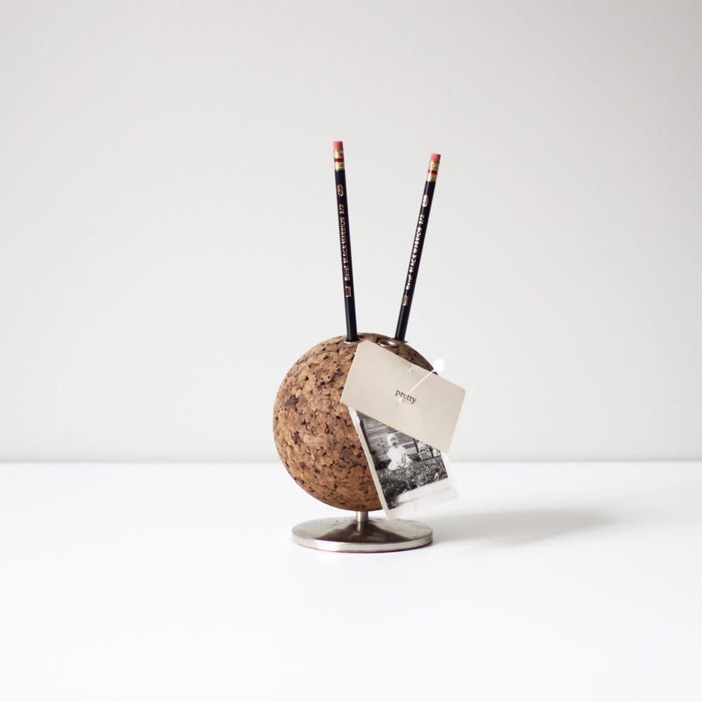 Mid Century Cork Desk Pencil Holder By Hruskaa On Etsy
