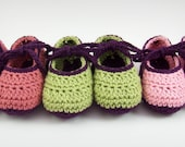 Crochet Baby Booties, Knit Baby Shoes