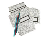 Hearts and Flowers Write Fold Mail Stationery Set