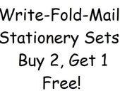 Buy 2, Get 1 Free Write Fold Mail Stationery Sets