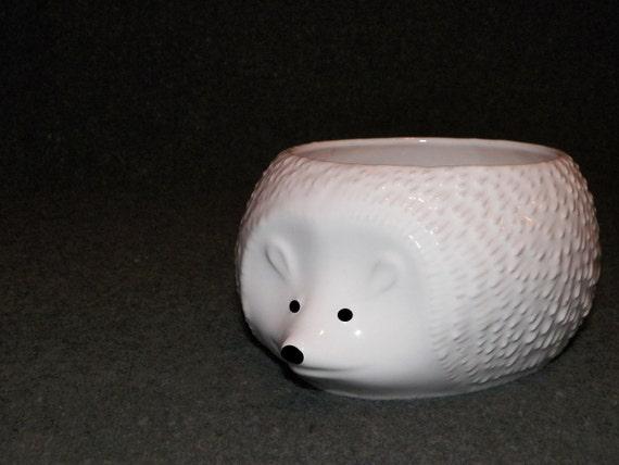 German Hedgehog Planter Candy Dish Bowl Candle Holder