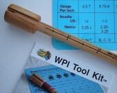 WPI tool, wooden Wraps Per Inch Gauge Tool Kit
