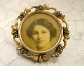 Victorian Photograph Brooch