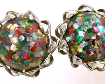 Confetti Lucite Earrings