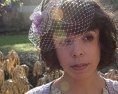 Silver Screen bird cage veil and fascinator