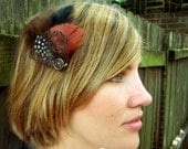 North Wind woodland feather hair clip