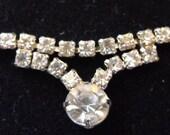 Love Vintage Elegant Wedding Necklace Round Square Cut Rhinestones Clear White Fashion Party Bridesmaid Gift  Bar Mitzvah Quincenera Tuxedos