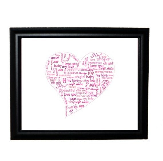 Sweet Baby Words from the Heart - 8x10 print