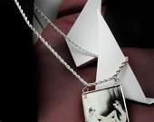 GEMINI reversible soldered art glass pendant