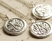 Old English Initial Wax Seal Necklace & Custom Addition