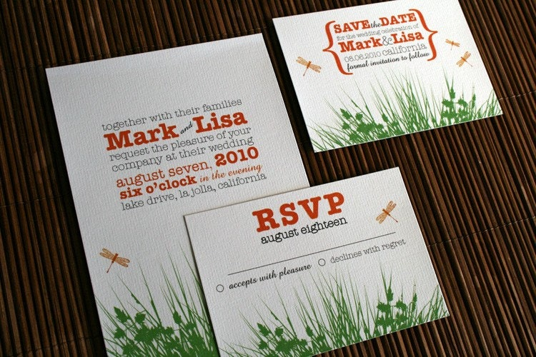 Outdoor Wedding Invitation Wording: Backyard Garden WEDDING INVITATION