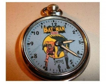 Old Batman and  Robin Character dial pocket watch