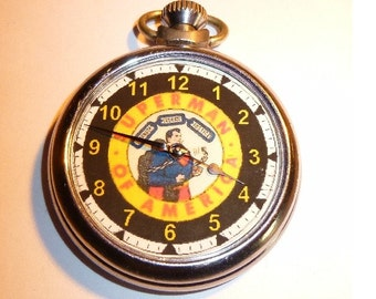 Vintage Superman Of America Character dial Pocket Watch