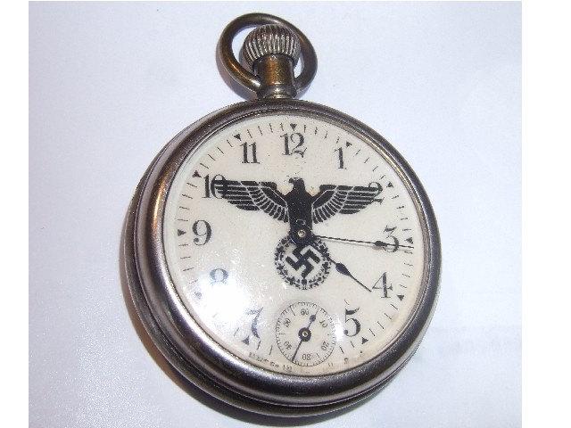 Old Ww2 Nazi Swastika Pocket Watch