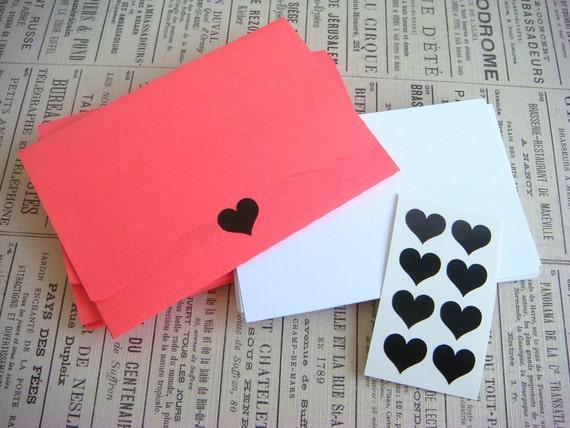 handmade bracket envelopes with blank cards and envelope seals - stationery set No.19