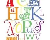 Rainbow Alphabet - 8 x 10 Print
