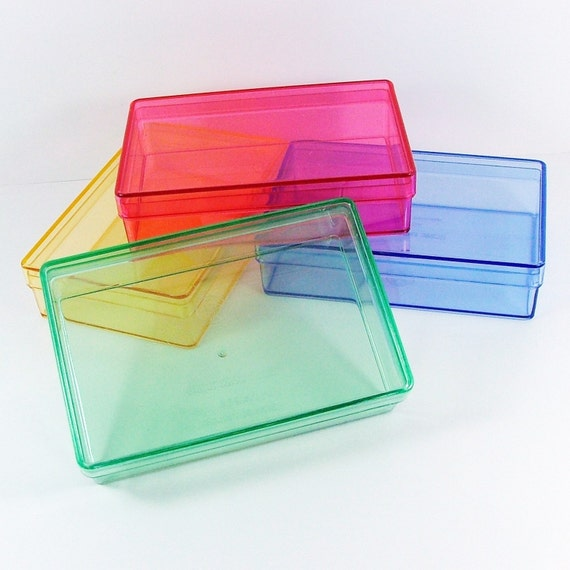 4 Colors Plastic Boxes Business Card Size