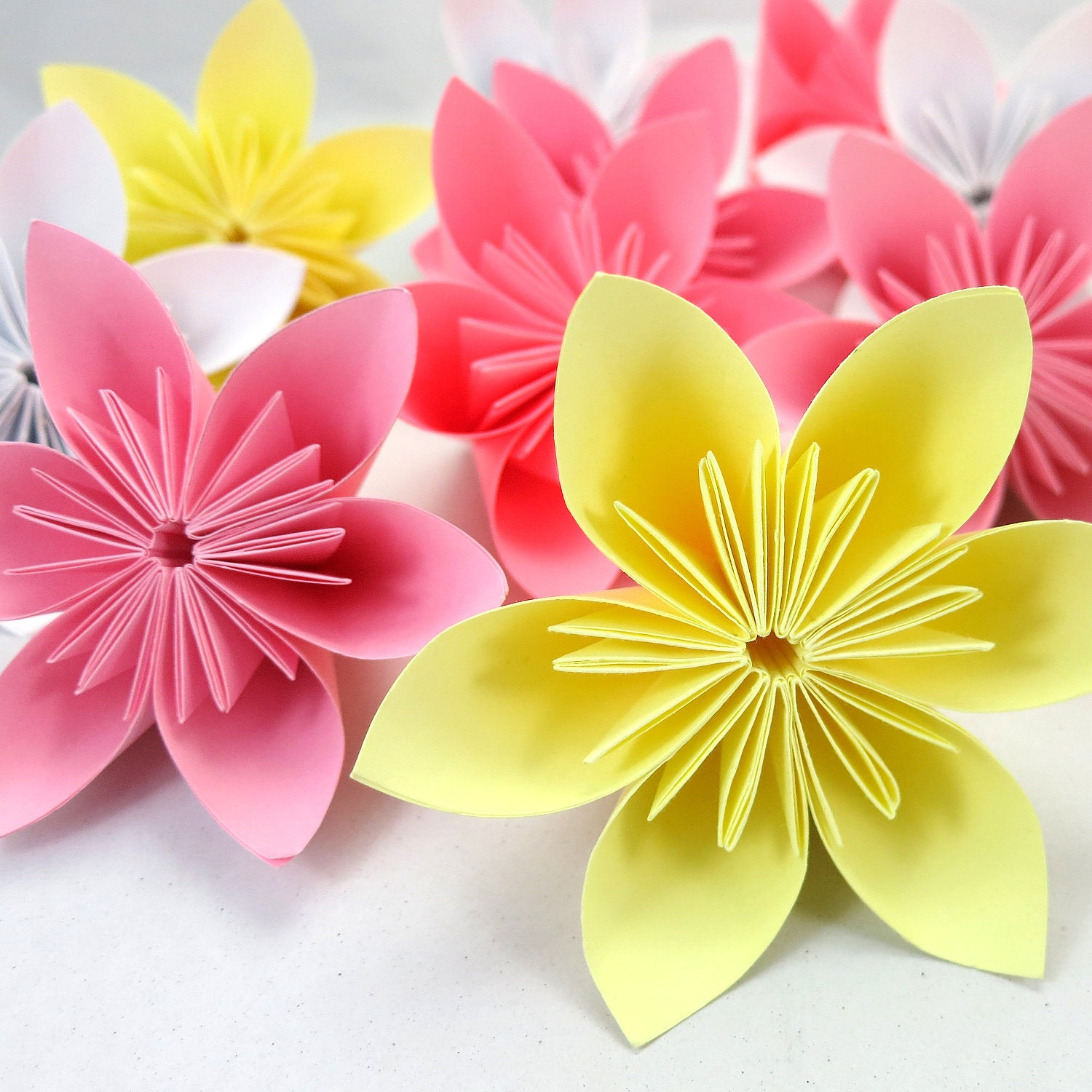 Cherry Blossom Origami Folding Flowers 20 pcs by JUSTPATCHshop - photo#46
