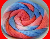 Hand Dyed, Hand Painted Size 30 Rayon Thread for Crochet, Tatting or Embroidery - I LOVE AMERICA