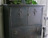 Old West Wardrobe Dresser PAINT to ORDER Vintage Poppy Cottage