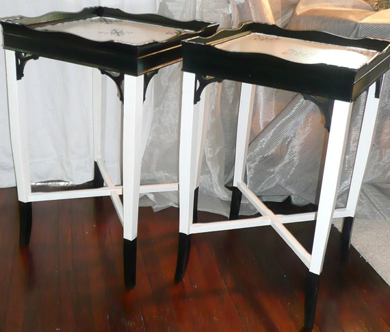 Tuxedo Accent Table Vintage Happy New Year