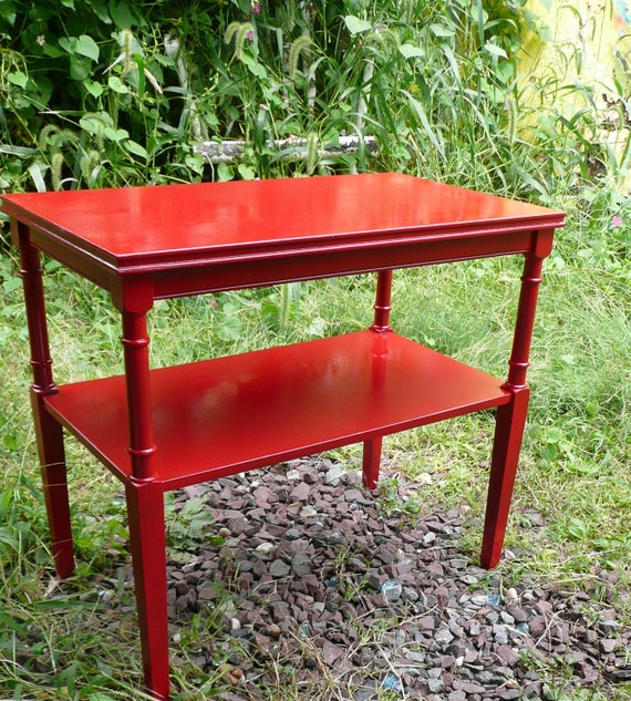 Jazzy Poppy Accent Table Vintage Poppy Cottage