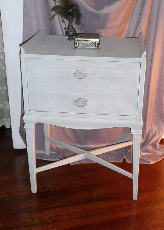 RESERVED Old Hollywood Bedside Table.Vintage