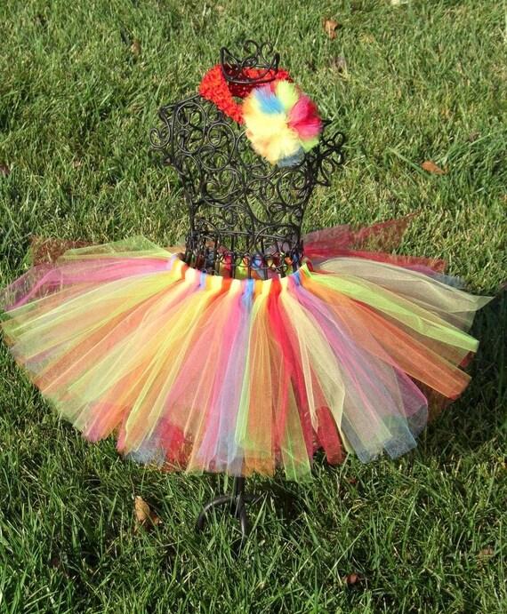 Girls Clown Tutu - Halloween Costume- Girls Clown Costume- Toddler Clown Tutu-- Baby Clown Tutu- Girls Rainbow Tutu- Circus tutu