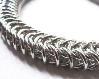 Unisex chainmaille bracelet, Aluminum bracelet, Mens jewelry, Unisex chain mail jewelry, bracelet for man